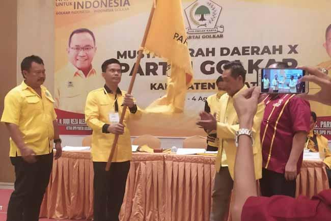 Terpilih Aklamasi Jadi Ketua, Tanhar Effendi Siap Bawa Golkar Jadi Partai Terbesar di Lahat
