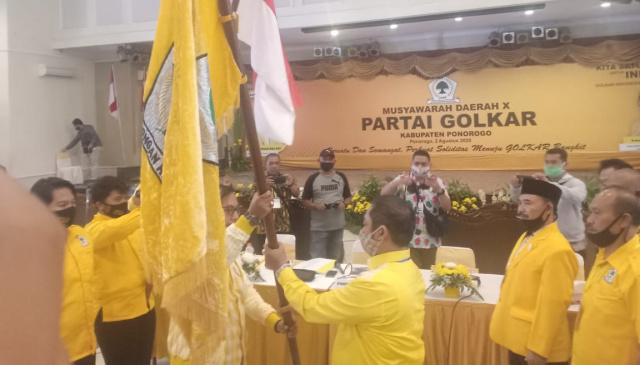 Golkar Ponorogo Kembali Aklamasi Pilih Rahmat Taufik Jadi Ketua