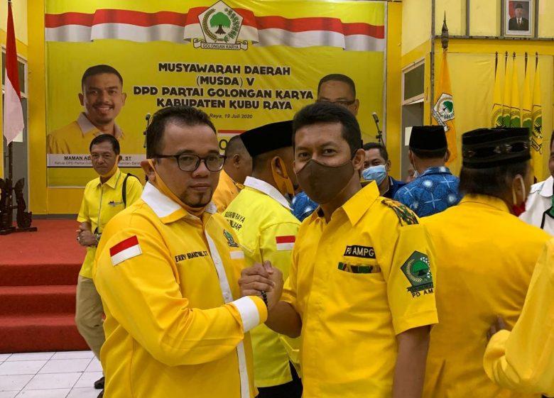 Terpilih Aklamasi Pimpin Golkar Kubu Raya, Erry Iriansyah Patok Sejumlah Target