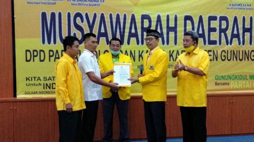 Gandung Pardiman Pastikan Golkar Dukung Mayor Sunaryanta di Pilkada Gunung Kidul