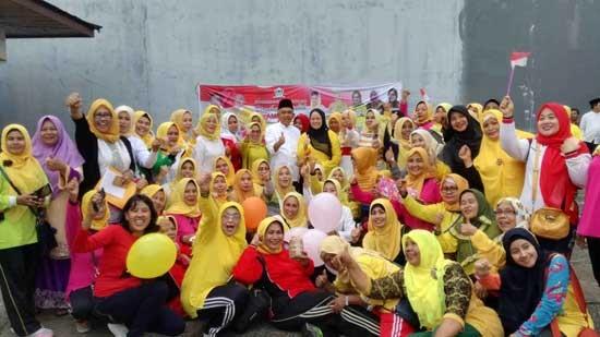 Inilah Kemeriahan HUT Kemerdekaan RI Oleh Sayap-Sayap Perempuan Golkar Riau