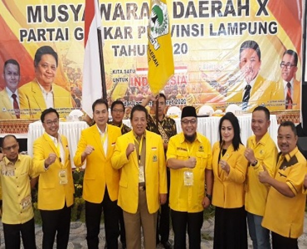 Pengurus DPD Golkar Lampung 2020-2025 Terbentuk, Berikut Susunannya