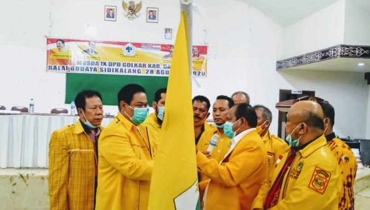 Dua Kandidat Lain Mundur, Bupati Eddy Keleng Berutu Terpilih Aklamasi Pimpin Golkar Dairi