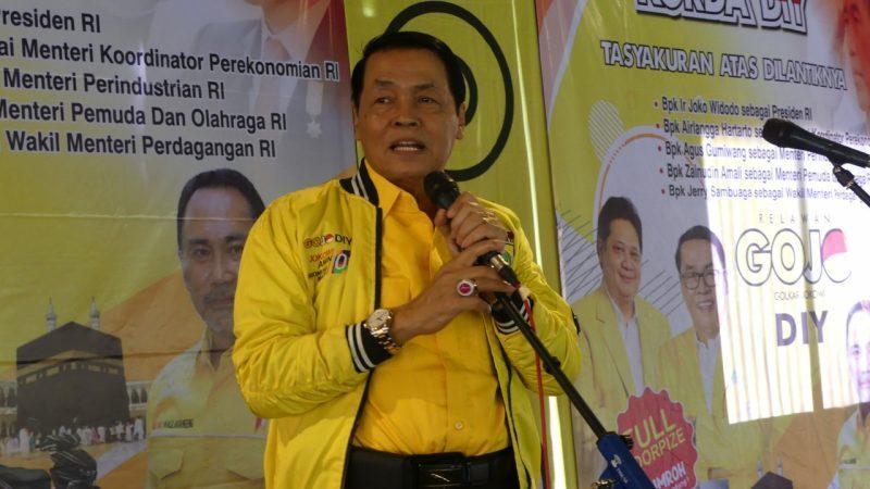 DPP Minta Gandung Pardiman Revitalisasi Golkar Jogja Hingga Bergairah Lagi