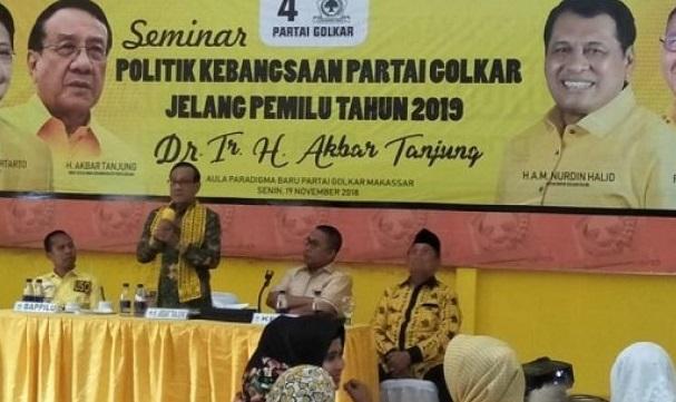 Akbar Tandjung Akui Jelang Pemilu 2019, Golkar Berada Dalam Tekanan Hebat