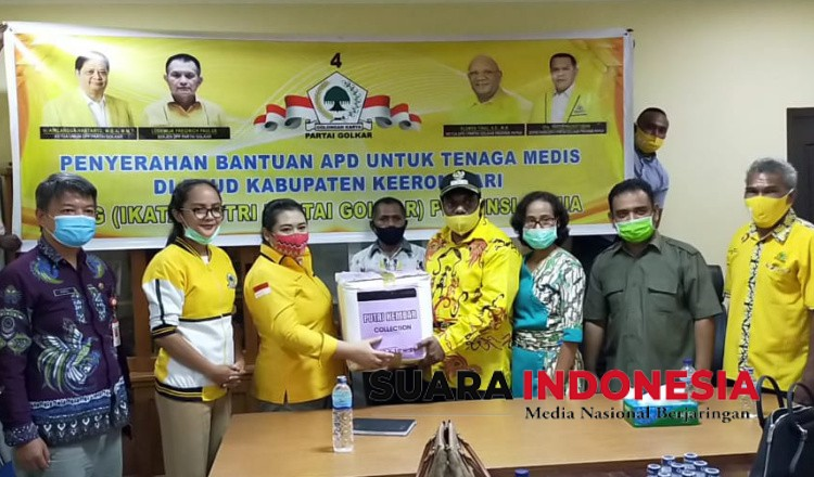 Bantu Ratusan APD dan Masker, Wabup Keerom Piter Gusbager Apresiasi Aksi Sosial IIPG Papua