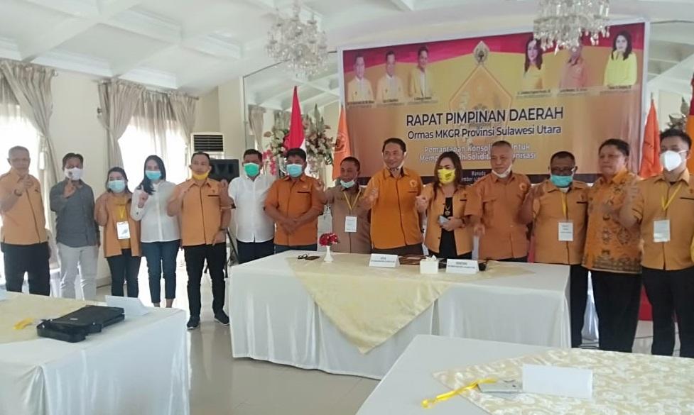 Rapimda Ormas MKGR Sulut Putuskan Airlangga Capres 2024 Dan Adies Kadir Ketum Ormas MKGR