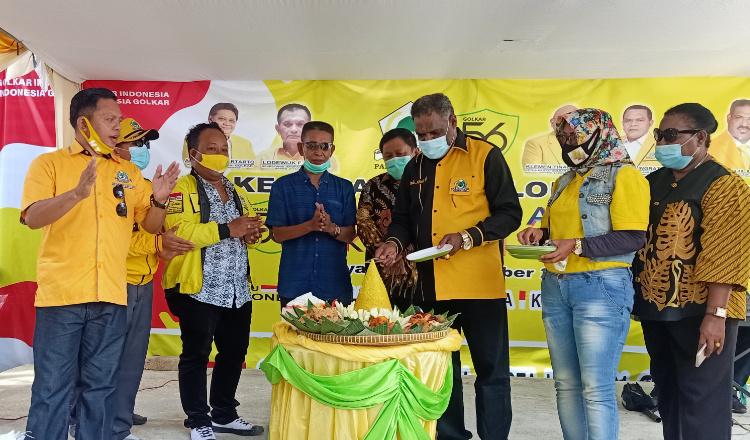 HUT Ke-56, Abisai Rollo Ajak Seluruh Kader Kembalikan Kejayaan Golkar di Jayapura dan Papua
