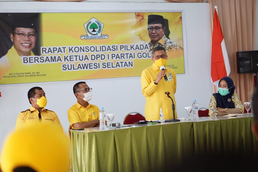 Taufan Pawe Puji Golkar Luwu Raya, Dua Petahana Indah Putri dan Thoriq Husler Menang Pilkada 2020