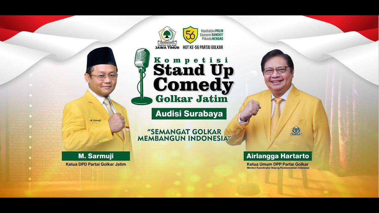 Lomba Stand Up Comedy, Gaya Golkar Jatim Kritisi Pemerintah Dengan Unik dan Kreatif