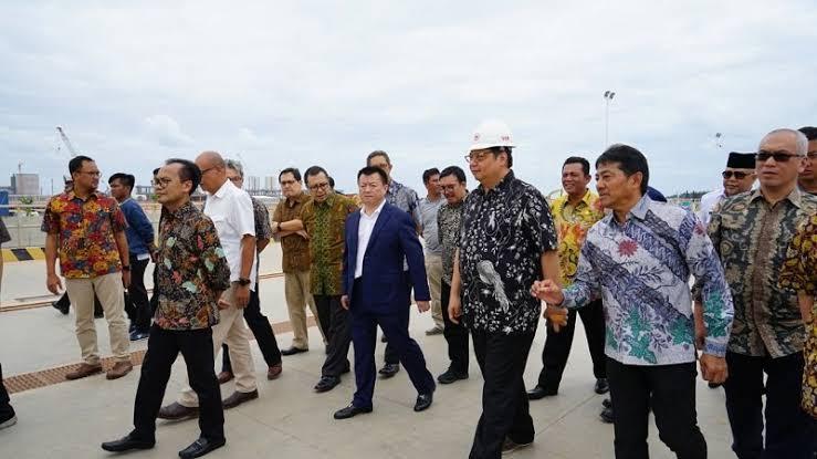 Berorientasi Ekspor, Menko Airlangga Hartarto Tinjau Infrastruktur KEK Galang Batang di Bintan