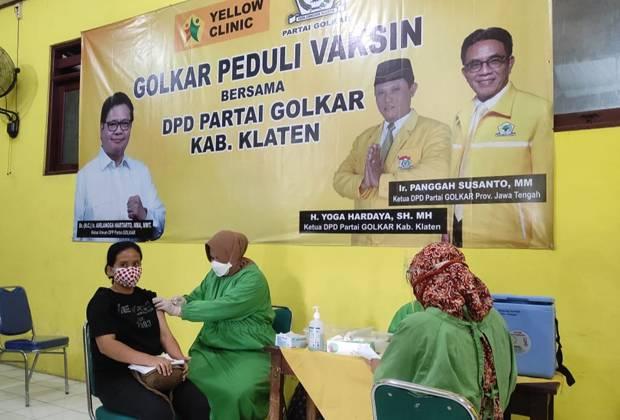 Yellow Clinic Milik Golkar Dinilai Berperan Nyata Percepat Vaksinasi COVID-19