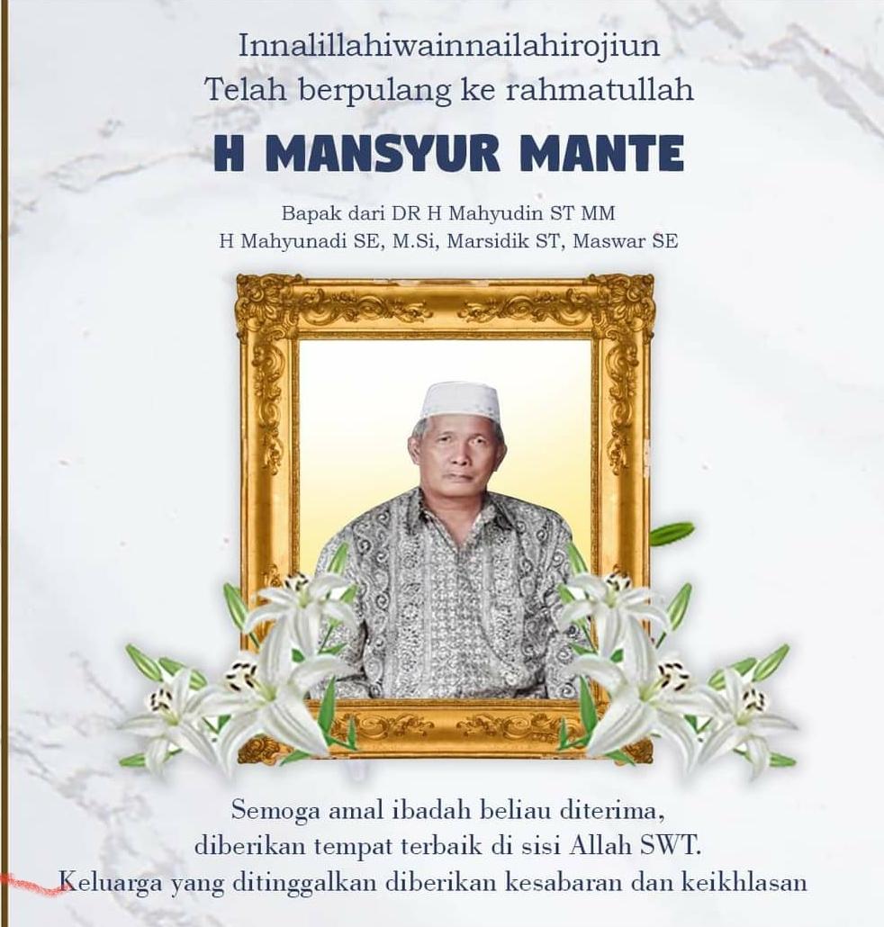 Ayahanda Meninggal Dunia, Wakil Ketua DPD RI Mahyudin Minta Masyarakat Doakan Dari Rumah