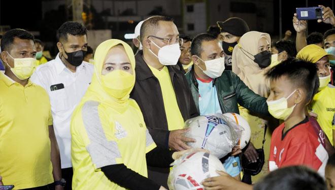 Gelar Festival SSB di Gelora Kie Raha, Komitmen Golkar Ternate Majukan Sepakbola Maluku Utara
