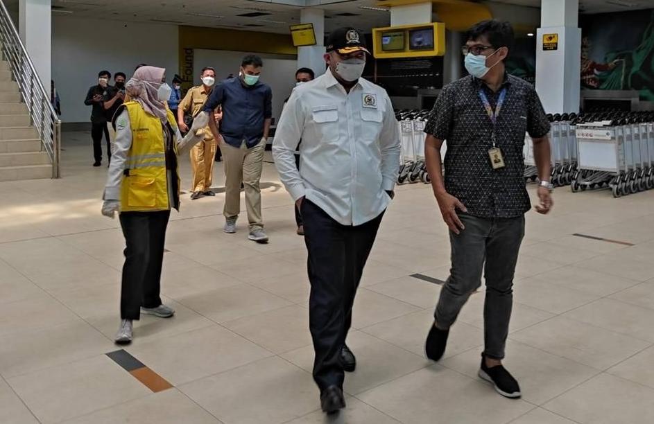 Pinto Jayanegara Pimpin Sidak Satgas COVID-19 DPRD Jambi Ke Bandara STS, Ini Temuannya