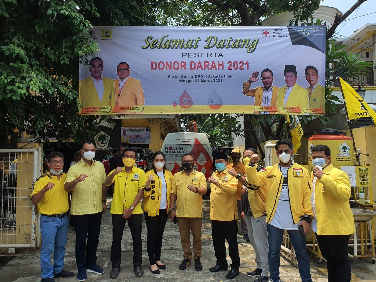 KPPG Jakarta Timur Gelar Donor Darah Bertajuk Golkar Peduli, Ahmed Zaki Iskandar: Perbuatan Mulia