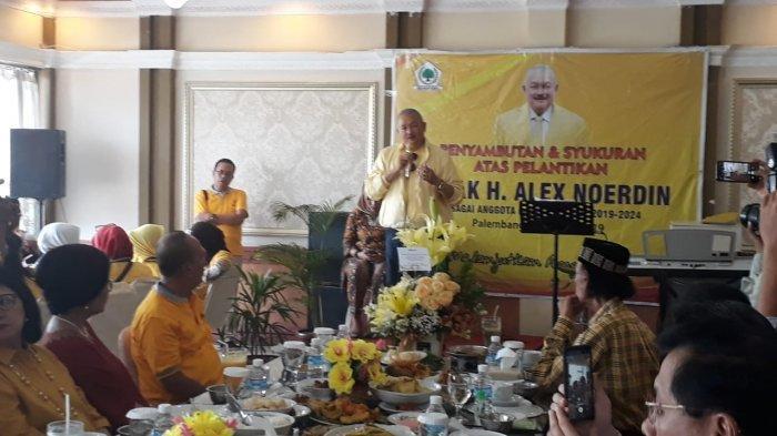 Syukuran Menang Pileg 2019, Ini Pesan Alex Noerdin Untuk Kader Golkar Sumsel