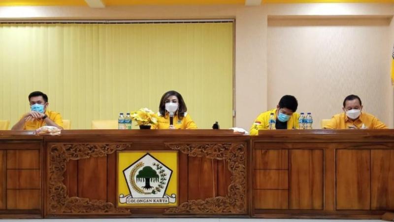 Tetty Paruntu Bakal Evaluasi dan Revitalisasi Pengurus Golkar Sulut