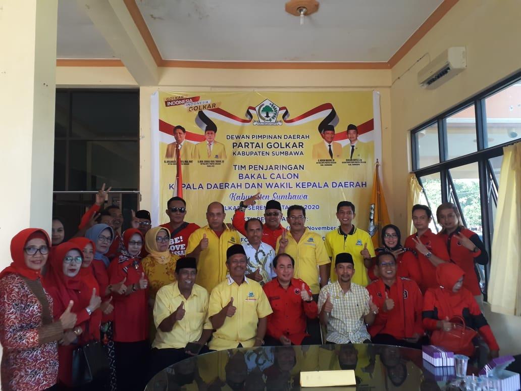 Pilkada Sumbawa 2020, Bupati Husni Djibril Mendaftar ke Golkar
