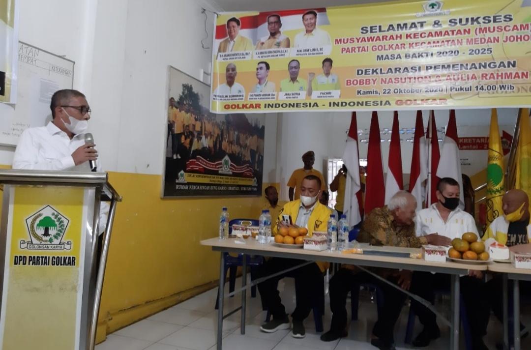 Ahmad Yasir Ridho Konsolidasikan Golkar Sumut Menangkan Bobby-Aulia di Pilkada Kota Medan