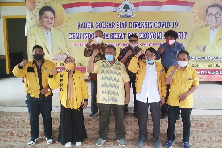 Gandung Pardiman Ajak Kader dan Simpatisan Golkar DIY Sukseskan Program Vaksinasi COVID-19