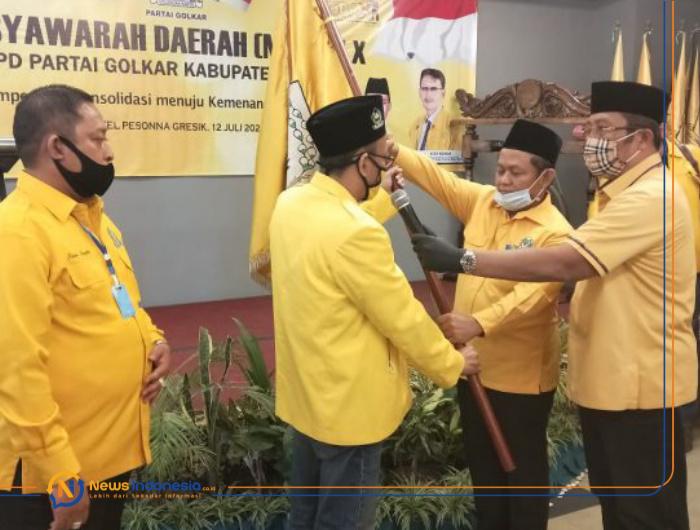 Mampu Menjaga Kebesaran Partai, Ahmad Nurhamim Kembali Terpilih Pimpin Golkar Gresik
