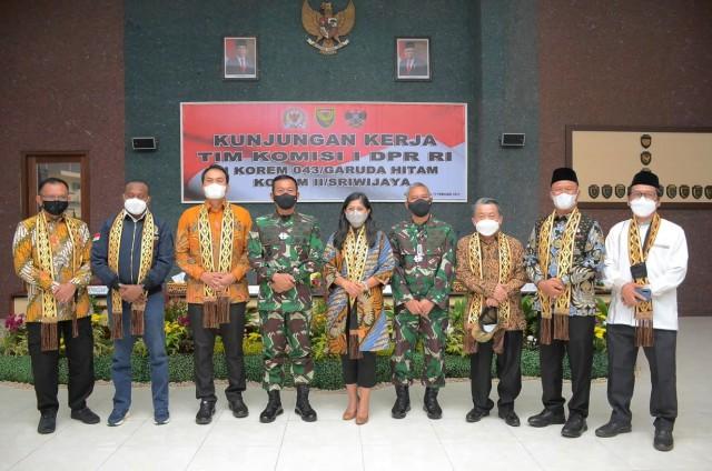 Tak Ada Zona Merah di Lampung, Meutya Hafid Apresiasi Penanganan Pandemi Oleh Kodam II Sriwijaya dan Korem 043 Garuda Hitam