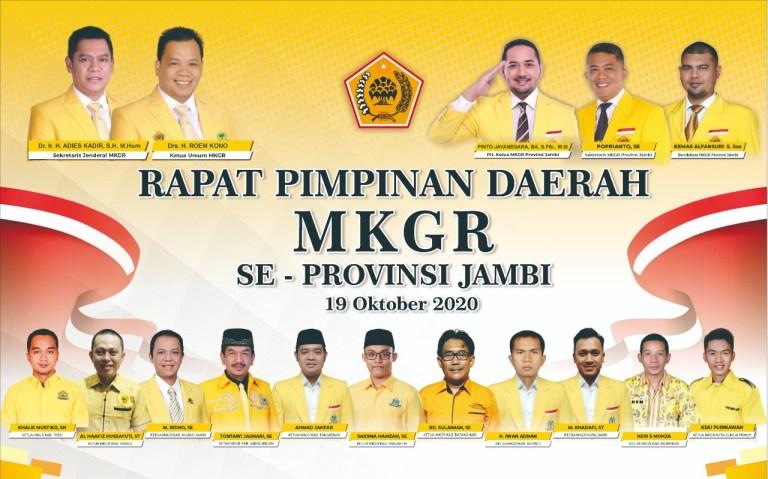 Jelang Mubes Di Jakarta, Ormas MKGR Gelar Rapimda se-Provinsi Jambi