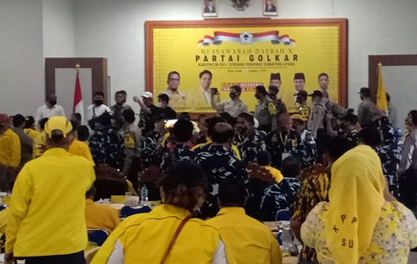 Pecah Dua Kubu, Musda Golkar Deliserdang Hasilkan Dua Ketua Baru Berbeda