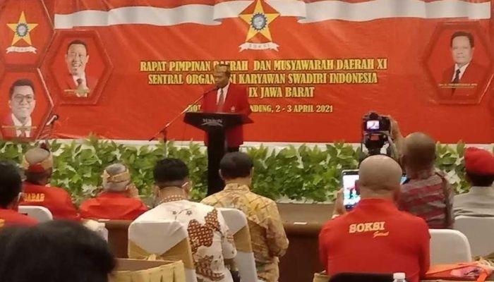 Gelar Bincang Politik, SOKSI Jawa Barat Mulai Bahas Jagoan Golkar di Pilpres 2024
