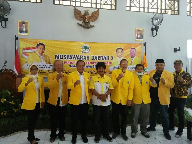 Musda Golkar Sragen, Pujono Elly Bayu Effendi Jadi Ketua Agus Fatchur Rahman Ketua Dewan Penasehat