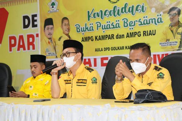 Konsolidasi Organisasi, AMPG Riau Bersama AMPG Kampar Gelar Buka Puasa Bersama