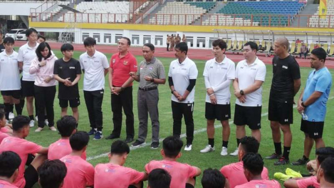 Menpora Zainudin Amali Tinjau Latihan Perdana Timnas U19 Di Bawah Pelatih Shin Tae Yong
