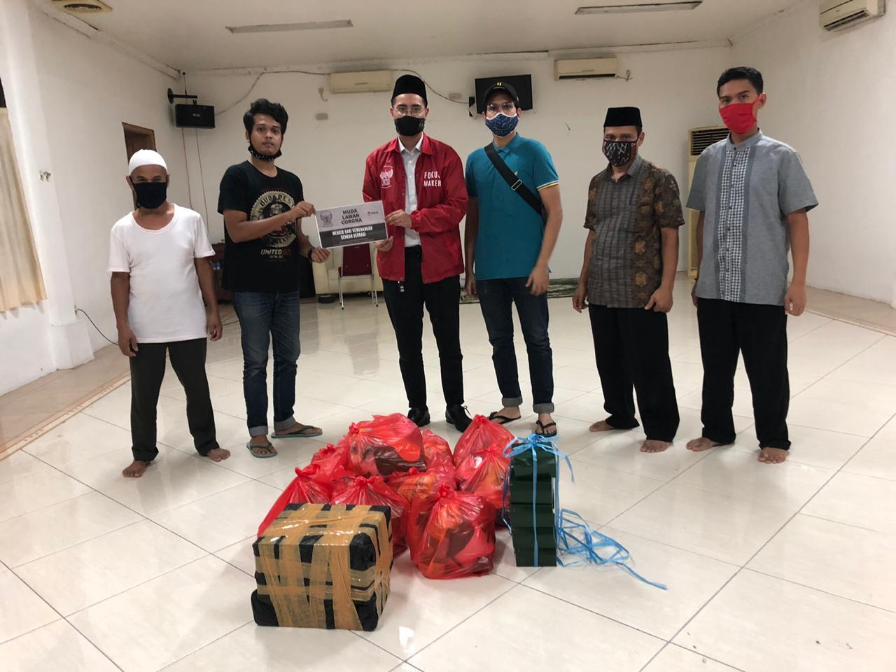 Melalui Remaja Islam Masjid Cut Meutia, Bakornas Fokusmaker Beri Santunan Yatim Piatu