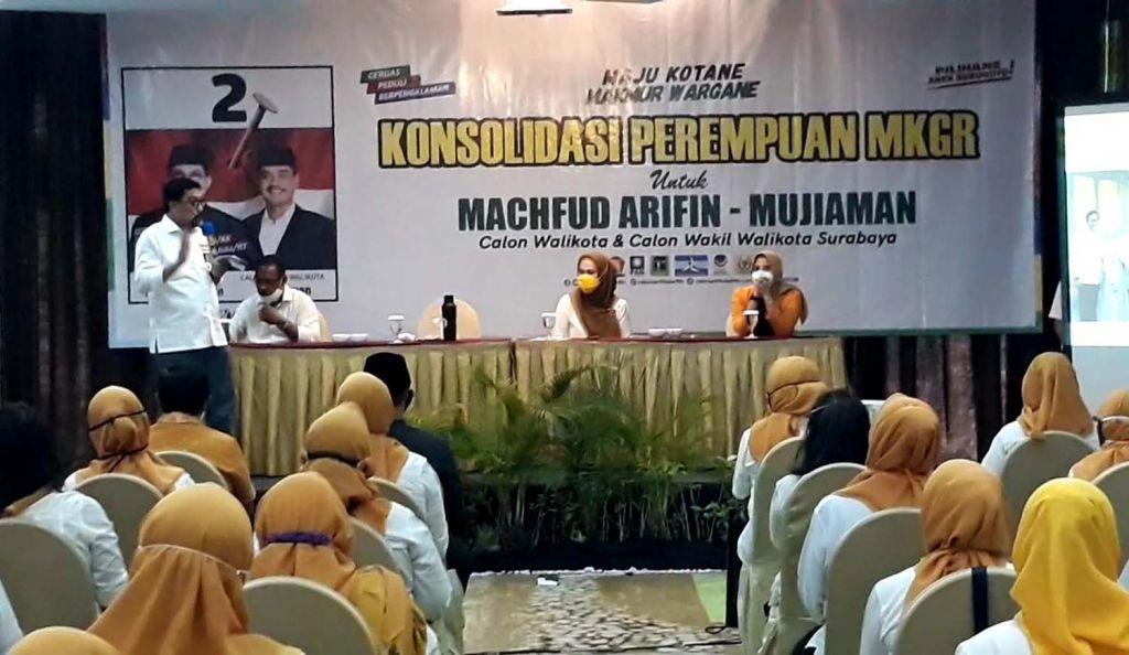 GP Ormas MKGR Jatim Janjikan 10 Ribu Suara Menangkan Machfud Arifin-Mujiaman di Pilkada Kota Surabaya