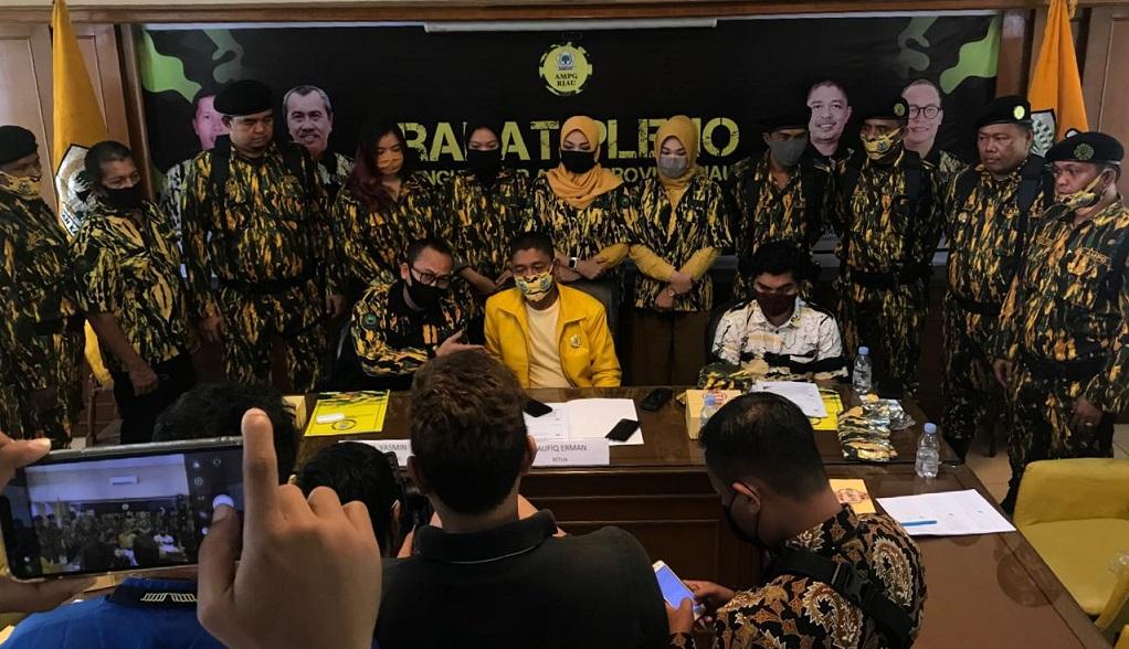 Dipimpin Taufiq Erman, AMPG Siap Menangkan Calon Golkar di 9 Pilkada se-Riau