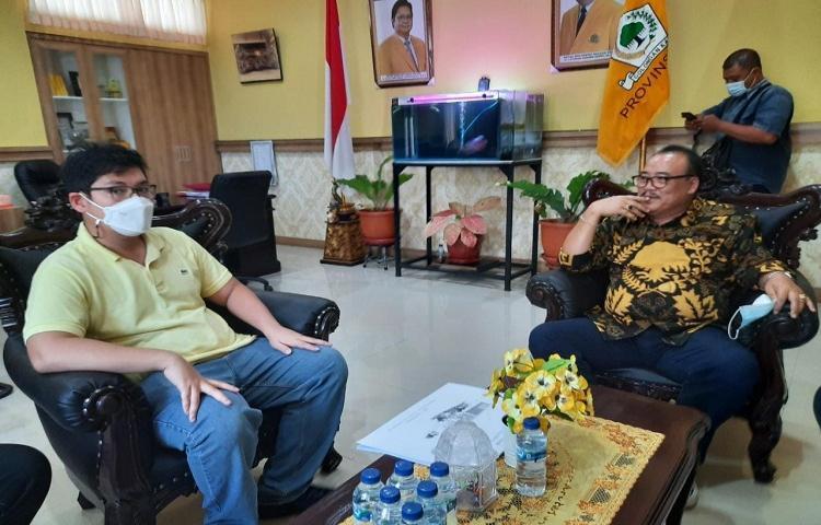 Sambangi Golkar Bali, Ravindra Airlangga Tinjau Pembangunan Yellow Clinic