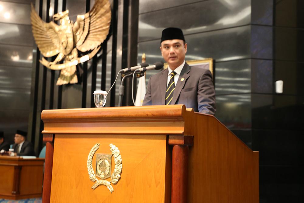 Di Hadapan Anies, Judistira Hermawan Kritisi TGUPP Anies Bebani APBD DKI Jakarta