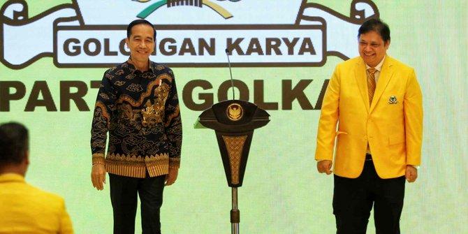 Bahasa Politik Pasemon, Voxpol Ungkap Pujian Jokowi Ke Airlangga Bisa Bermakna Sebaliknya