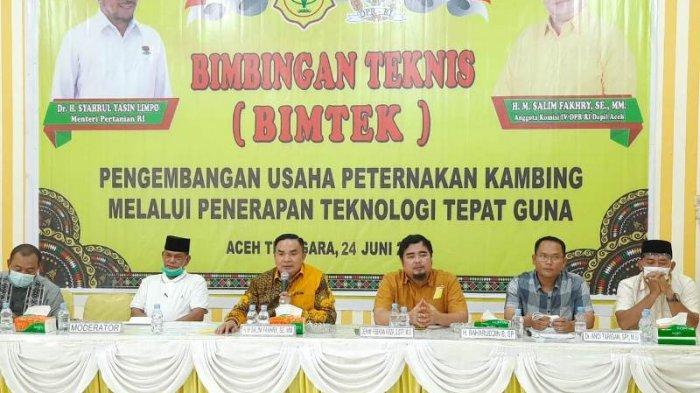 Salim Fakhri Gelar Bimtek Usaha Ternak Kambing Lewat Teknologi Tepat Guna di Aceh Tenggara