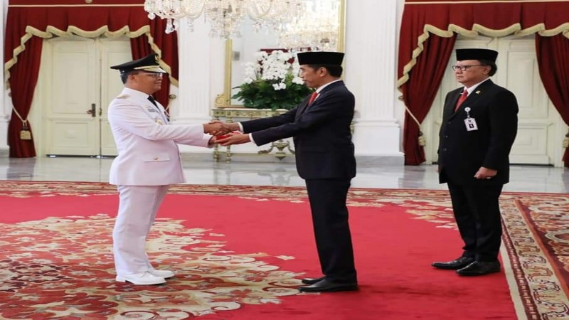Resmi Dilantik Presiden Jokowi, Rohidin Mersyah-Rosjonsyah Sampaikan Visi Besar Bengkulu Maju