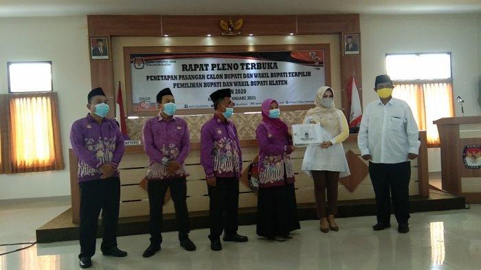 KPU Tetapkan Sri Mulyani-Yoga Hardaya Jadi Bupati-Wakil Bupati Klaten Terpilih