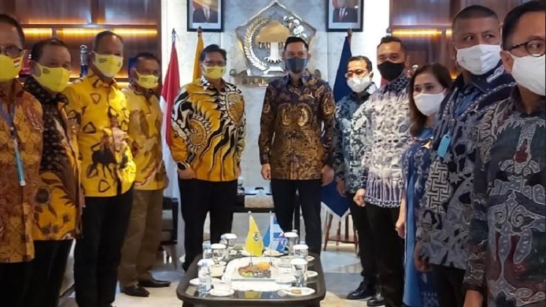 Airlangga dan AHY Rapat Tertutup, Golkar-Demokrat Sepakat Koalisi Pilkada di 33 Daerah