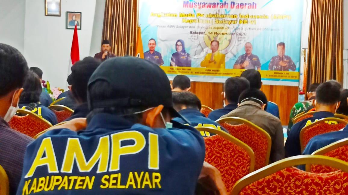Terpilih Aklamasi, Mursalim Nakhodai AMPI Kepulauan Selayar 2020-2025