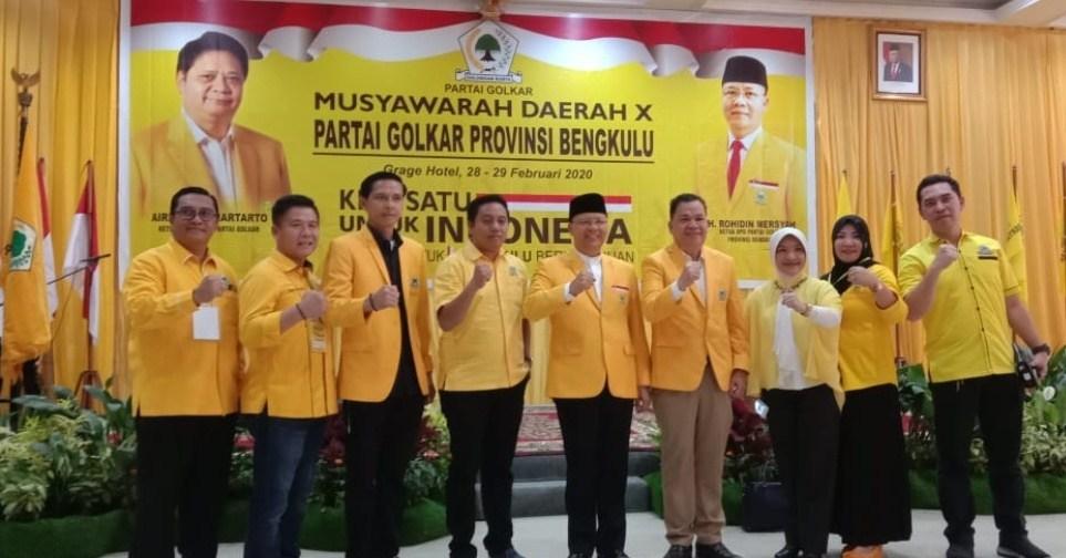 Terpilih Aklamasi Pimpin Golkar Bengkulu, Langkah Rohidin Mersyah di Pilgub Makin Mantap