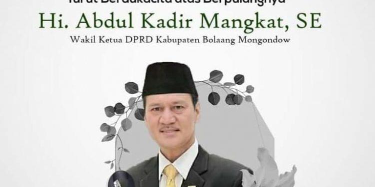 Wakil Ketua DPRD Abdul Kadir Mangkat Meninggal Dunia, Golkar Bolmong Berduka
